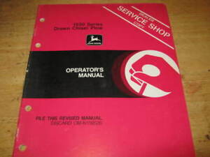 John Deere 1650 Chisel Plow Manual