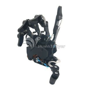 Five Fingers Mechanical Claw Clamper Gripper Arm Right Hand servos Assembled Us