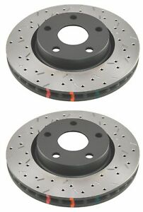 Dba 2016 2017 Ford Focus Rs 2 3l Hb Front Drilled Slotted Brake Rotors T3 4000