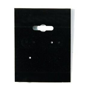 2000 Black Hanging Earring Cards 2 h X 1 1 2 w Jewelry Display With Lip