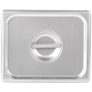 12 Pack Half Size Solid Stainless Steel Steam Prep Table Food Pan Lid Cover Nsf