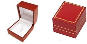 Wholesale 48 Classic Red Leatherette Championship Clip Ring Jewelry Gift Boxes