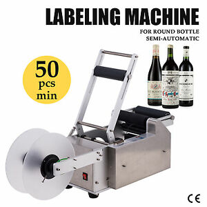 Semi automatic Round Bottle Labeller Labeling Machine High Efficiency