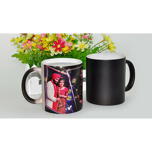 Us Stock 72pcs Black Glossy Magic Cup 11oz Blank Sublimation Color Changing Mugs