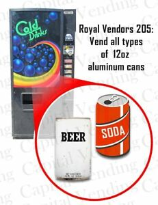Royal Vendors Soda Cold Drink Vending Machine Great For Small Location