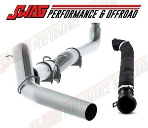 Mbrp 5 Straight Piped Exhaust 3 Wrapped Downpipe For 04 5 07 Duramax 6 6l