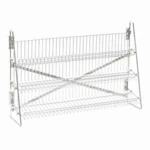 Wire Candy Snack Rack 3 Tier Counter Or Mount 36 w Chrome