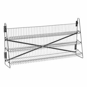 Wire Candy Snack Rack 3 Tier Counter Or Mount 48 w Black