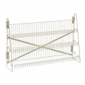 Wire Candy Snack Rack 3 Tier Counter Or Mount 36 w Beige