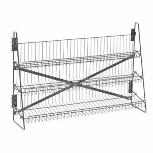 Wire Candy Snack Rack 3 Tier Counter Or Mount 36 w Black