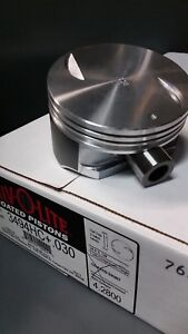 Silvolite Std Flat Top Hypereutectic Coated Pistons 2001 04 Chevy 8 1l 496 Set 8