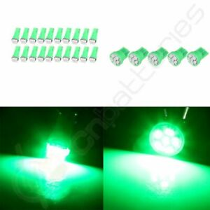25x T5 T10 Light Bulbs Green Kit Instrument Panel Cluster Dash Lamps For Gmc