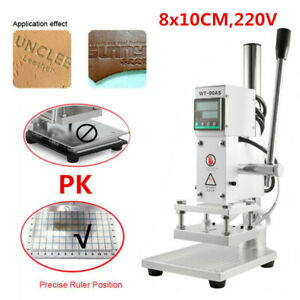 220v Hot Foil Leather Stamping Machine 8 10cm Embossing Bronzing Press Printing