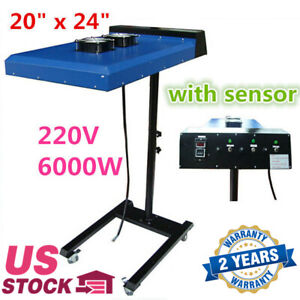 Usa Stock 20 X 24 Screen Printing Automatic Ir Flash Dryer With Sensor 220v