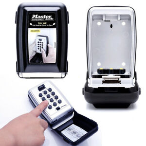 New Master Lock 5423d Push Button Wall Mount Key Safe Metal Removable Key Hook