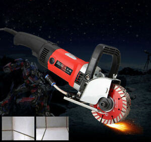 220v Electric Marble Saw Concrete Grooving Slotting Machine 2800w