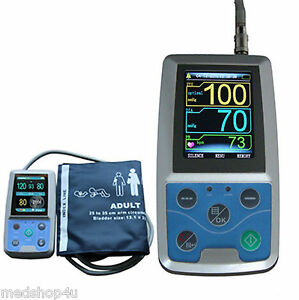 Fda ambulatory blood pressure patient monitor 24h nibp holter contec abpm50