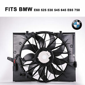 Brushless Motor Radiator Cooling Fan 600 W Fit Bmw 2004 2009 525i