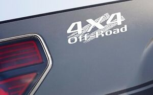 4x4 Off Road Tire Track Decal Sticker Truck Trd Tacoma Jeep Dodge Chevy Ford Wht