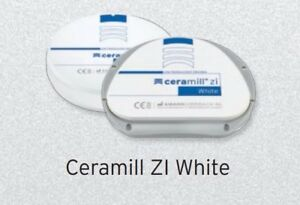 Ceramill Zi 71 White 16mm Thick Milling Disk Amann Girrbach Low Translucency