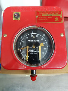 Opl 30 Murphy Pressure Gauge 0 To 30 Psi Customizable Settings 4 5 Dial New