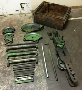 Greenlee Hydraulic Pipe Bender Model 770 Dies Shoes Original Box