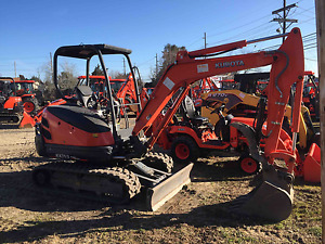Kubota Kx71 sr1t3 Excavator With Thumb And 24 Qa Bucket Ready To Dig