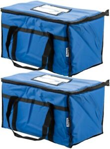 Insulated Blue Catering Delivery Food Full Pan Carrier Hot Cold Cooler Bag New