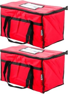 Insulated Red Catering Delivery Food Full Pan Carrier Hot Cold Cooler Bag New