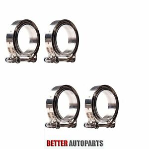 4 X Universal 3 Inch Stainless Steel V band Turbo Downpipe Exhaust Clamp Vband