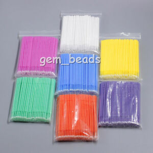 100pks 3 Sizes Dental Disposable Micro Applicators Brush 7color 100pcs pk Ce