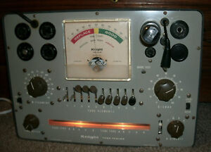 Vintage Knight 600 Tube Tester With Roll Chart Allied Radio
