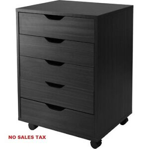 5 drawer Cabinet With Casters Home Office Furniture Organizer Storage Shelf