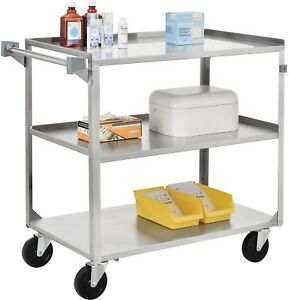 Stainless Steel Utility Cart 39 1 4 X 22 3 8 X 37 1 4 500 Lb Cap