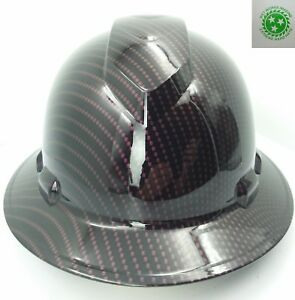 New Custom Pyramex full Brim Hard Hat Candy Black Cherry Plum Crazy New