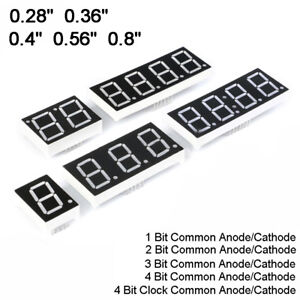 0 28 0 36 0 4 0 56 0 8 Red Led Display 7 Segment Common Cathode anode 1 4 Digit