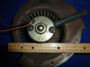 Vintage Ford Autolite 12 Volt Truck Or Car Heater Fan Blower Motor Assembly