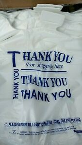 T shirt White Plastic Bag 1 6 Retail Grocery Store Shopping Carry Out 500ct Lot