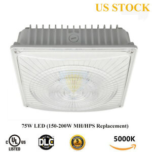 75w Led Canopy Gas Station Parking Garage Ceiling Light Replace 150w 200w Mh hps