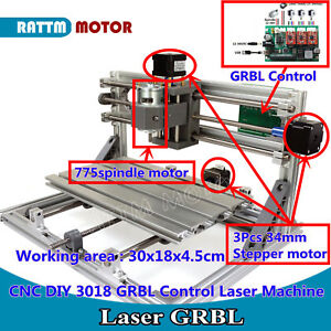 Diy Cnc Router Mini 3018 Grbl Control Desktop Pcb Wood Engraving Milling Machine
