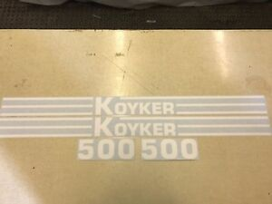 Koyker 500 Loader Decals