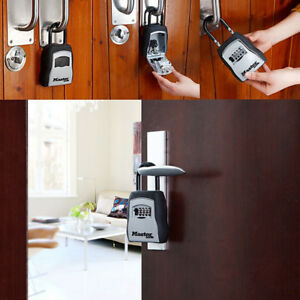 Lock Box For Realtor 4 Digit Key Combination Hook Hanging Safe Security