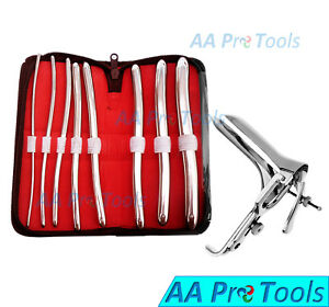 Aa Pro Hegar Urethral Sounds Dilator Kit Graves Vaginal Speculum Small Aa tools