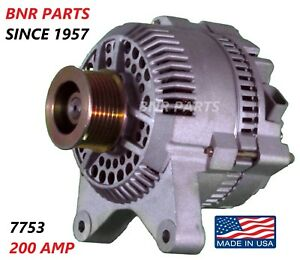 200 Amp 7753 Alternator Mercury Ford Mercury High Output Hd Performance New Usa