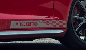 Limted Edition Vinyl Decal Sticker Emblem Checkered Racing Flag Fit Ford Ps24