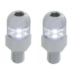 White Led Light License Plate Frame Dashboard Console Fastener Screws Bolt Pair
