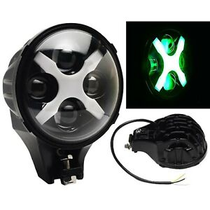 6 Off Road Lamp Led Green X Auxiliary Fog Spot Flood Light 6k 40w 8000 Lmn