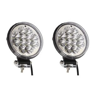 2x 5 Round Off Road Jeep Car Truck Led Lamp Auxiliary Fog Spot Flood Light Pair
