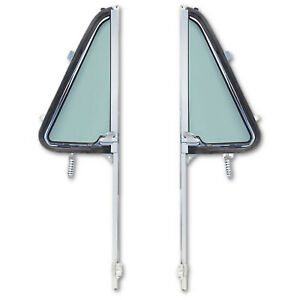 64 65 66 Chevy Gmc Pickup Truck L R Door New Tinted Vent Window Assembly Pair