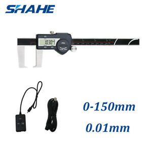 150mm 6 Digital Outside Groove Caliper Set Flat Pointed Jaw With Usb Cable